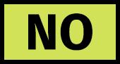 No burning
